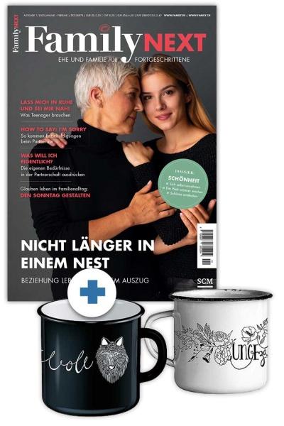 FamilyNEXT + Emaille-Tassen-Set