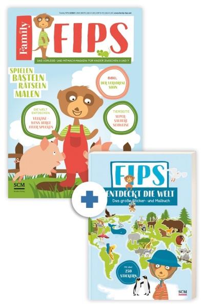 Family FIPS + Sticker-Malbuch