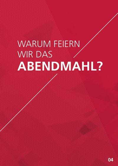Themenflyer Freikirche Nr. 4 | Warum feiern wir das Abendmahl? | 50er Pack