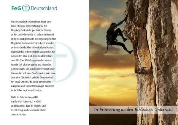 "Karte BU-Entlassung | Motiv ""Bergsteiger"" | 10er Pack"