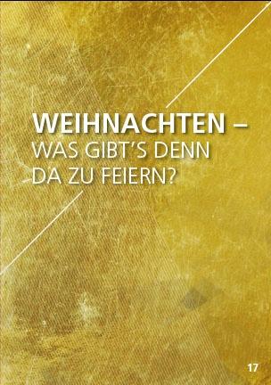 Themenflyer Landeskirche Nr. 17 | Weihnachten - Was gibt's denn da zu Feiern? | 50er Pack