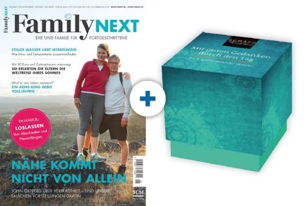 FamilyNEXT + Kärtchenbox: Mit guten Gedanken durch den Tag