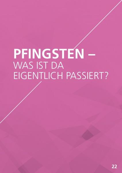 Themenflyer Landeskirche Nr. 22 | Was ist eigentlich an Pfingsten passiert? | 50er Pack
