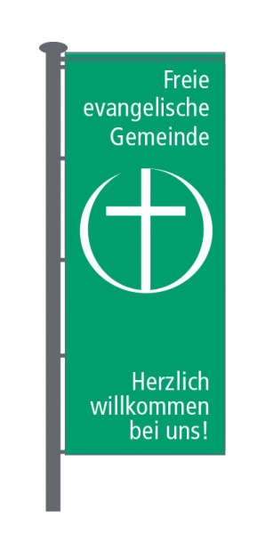 Fahne FeG | grün - weiss
