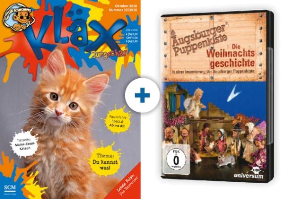 KLÄX + DVD: Weihnachtsgeschichte (Augsb. Puppenkiste)