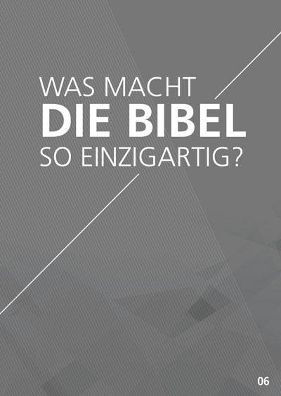 Themenflyer Freikirche Nr. 6 | Was macht die Bibel so einzigartig? | 50er Pack