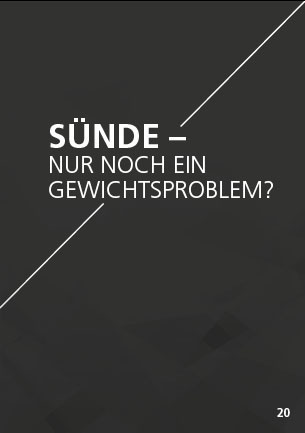 Themenflyer Landeskirche Nr. 20 | Sünde - Nur noch ein Gewichtsproblem? | 50er Pack