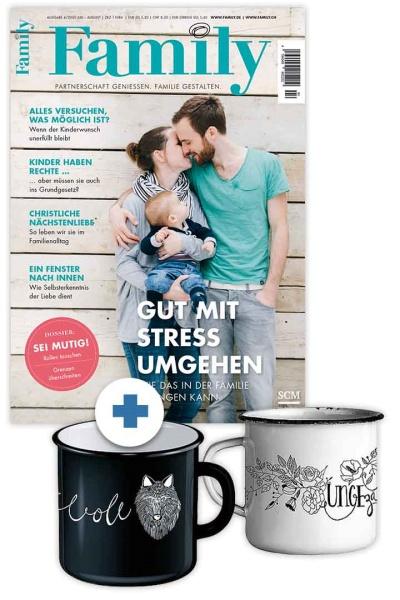 Family + Emaille-Tassen-Set