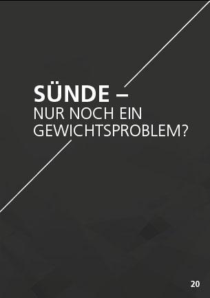 Themenflyer Freikirche Nr. 20 | Sünde - Nur noch ein Gewichtsproblem? | 50er Pack