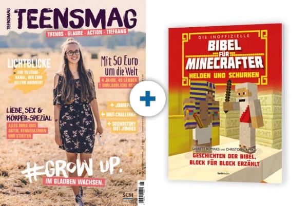 TEENSMAG + Minecraft-Bibel: Helden und Schurken