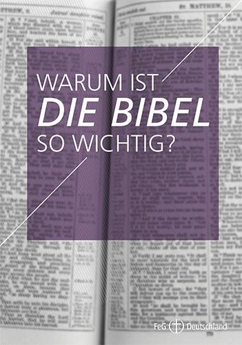 Themenflyer FeG Nr. 6 | Warum ist die Bibel so wichtig? | 50er Pack