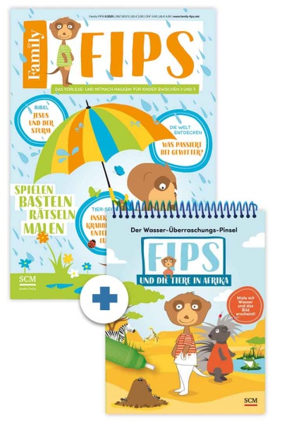 Family FIPS + Wasser-Überraschungs-Pinsel-Buch