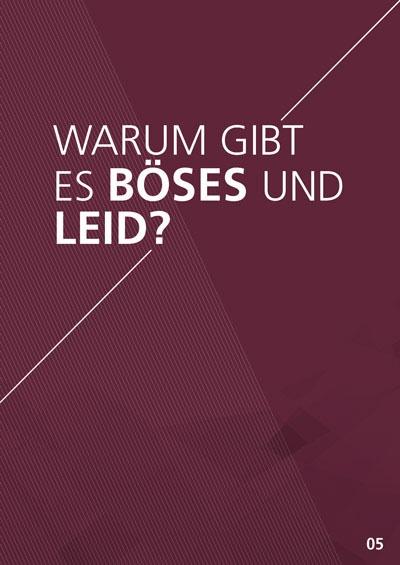 Themenflyer Landeskirche Nr. 5 | Warum gibt es Böses und Leid? | 50er Pack