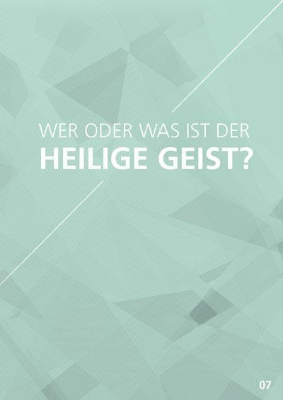 Themenflyer Freikirche Nr. 7 | Wer oder was ist der Heilige Geist? | 50er Pack