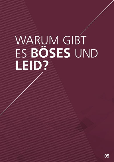 Themenflyer Freikirche Nr. 5 | Warum gibt es Böses und Leid? | 50er Pack